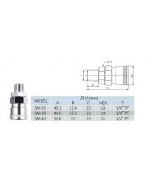 Air coupler NICEMAN 20SM Hose 5/16''